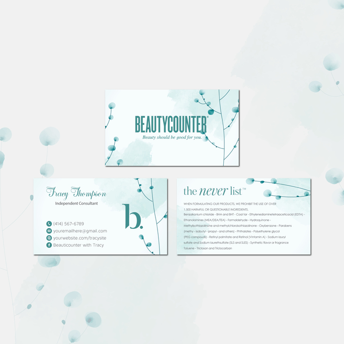 Beautycounter Business Card, Business Card, Personalized Beautycounter Business