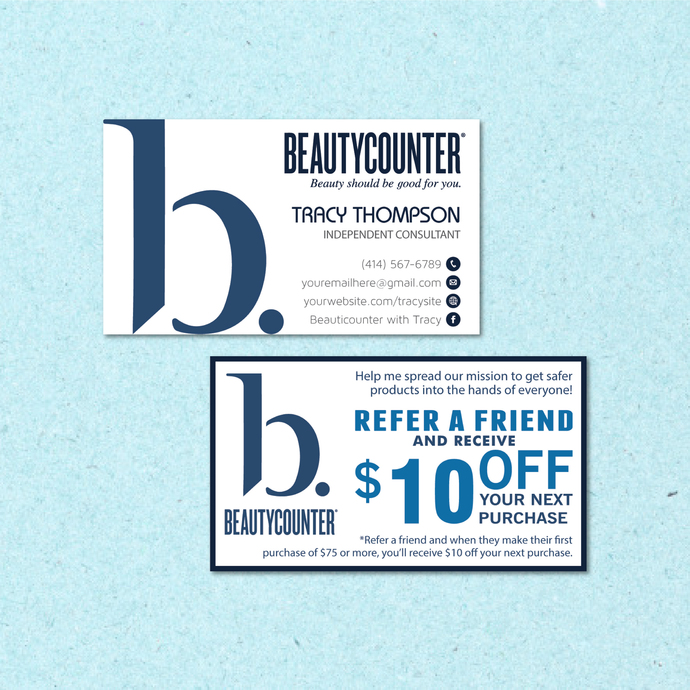Beautycounter Business Card, Personalized Beautycounter Business Cards, Referral