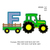 Tractor pulling F embroidery design,Tractor Applique embroidery machine,birthday