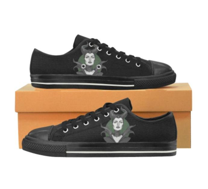Maleficent Low Top Canvas Shoes for Kid, Kid's Canvas Shoes