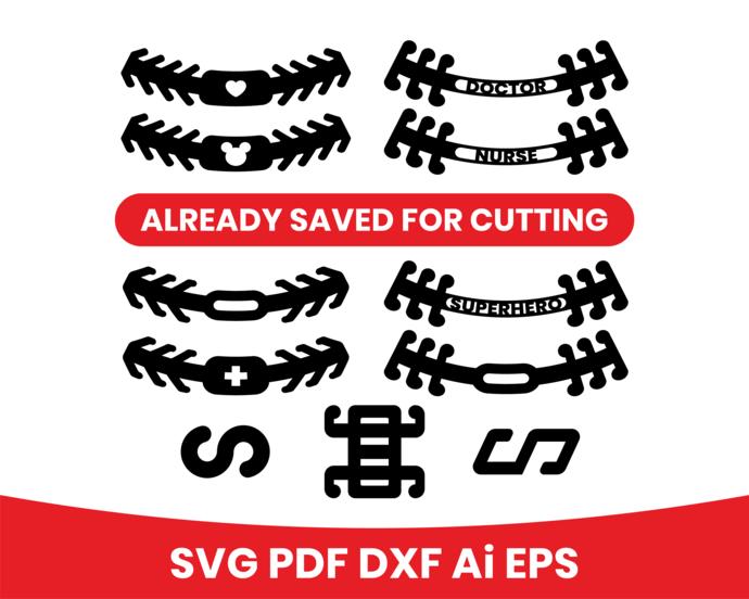 Ear saver dxf cut file, mask extender svg, plastic mask ear saver, ear saver svg