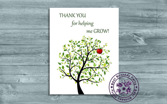 Thank you for helping me grow printable - Thank you for helping me grow card -