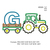Tractor pulling G embroidery design,Tractor Applique embroidery machine,birthday