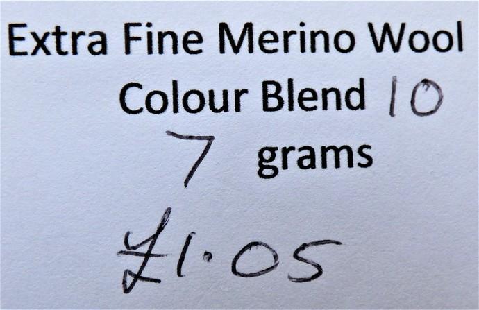 Extrafine Merino Wool For Felting - Random Dyed - 7 grams - Colour Blend 10 -