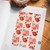 Red Dotted Roses - 2cm wide foil washi tape 10m - original design, perfect for