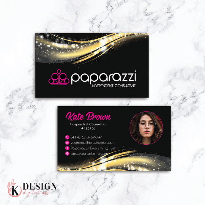 Gold Wave Paparazzi Business Cards, Paparazzi Accessories, Paparazzi Consultant