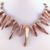Handmade Statement Necklace - Iridescent Shell Tusk, Mother of Pearl - Pink,