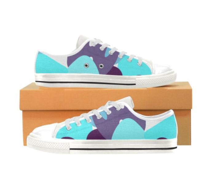 Modern Pattern 15 Low Top Canvas Shoes for Kid, Kid's Canvas Shoes