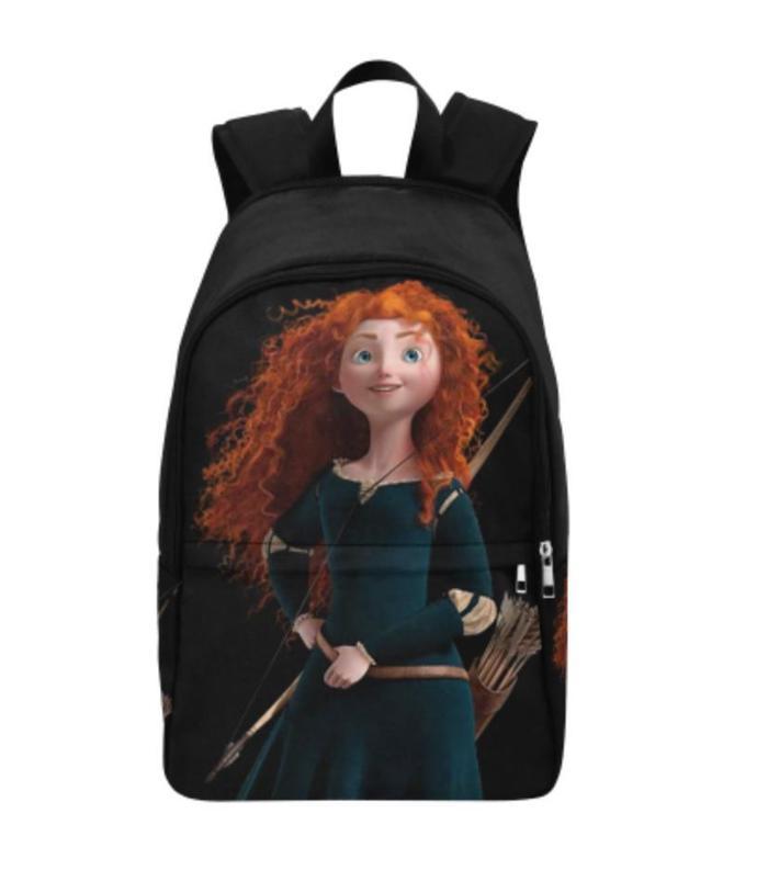 Brave Merida princess Fabric Backpack for kids, Disney Princess backpack