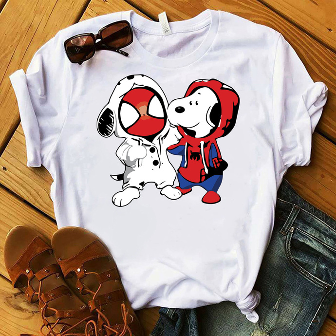 Snoopy, snoopy svg, snoopy dog svg, Snoopy and Spiderman, Spiderman svg, Cartoon