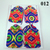 Handmade Bright Colorful Fabric Gift Tag Set