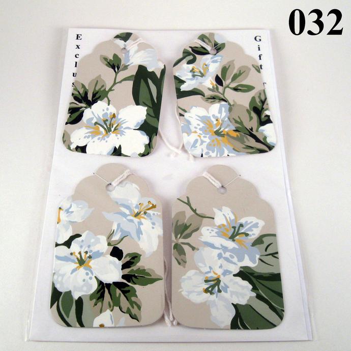 Handmade Flower Gift Tag Set from Wallpaper