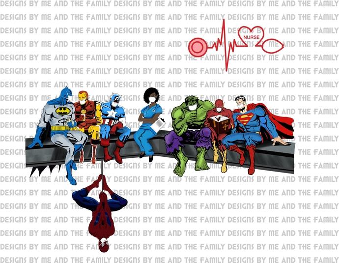 Super Hero Comic Book Heroes, African American Nurse the real Hero, quarantine,
