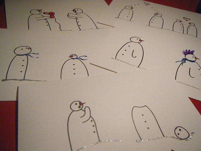 Uh Oh... Snowman Cards