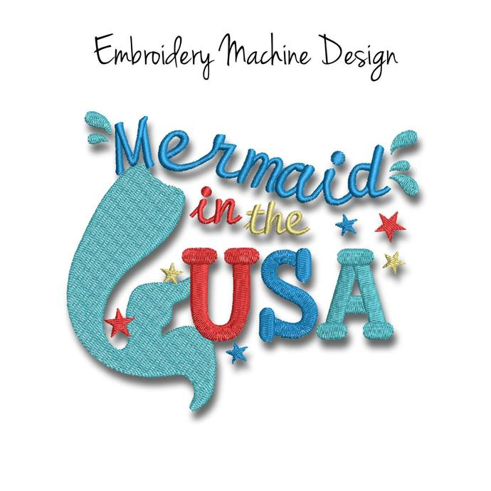 Machine Embroidery Designs Usa SET 6items Patriotic american Independence Day