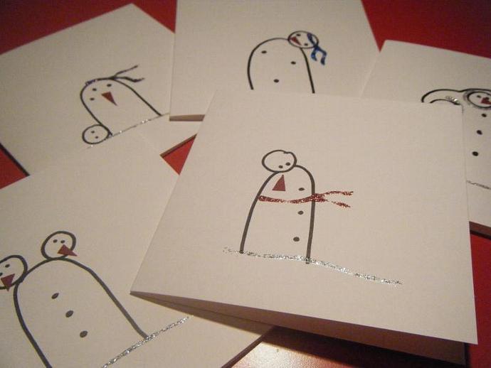 Non-Conformist Snowmen Cards
