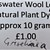 Teeswater Wool Locks For Felting & Embellishing - Natural Plant Dyed with
