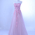 Pink Floral Pretty Floor Length Evening Dress, Pink Tulle Prom Dress