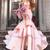 pink evening dresses 2020 mermaid tiered off the shoulder satin elegant evening
