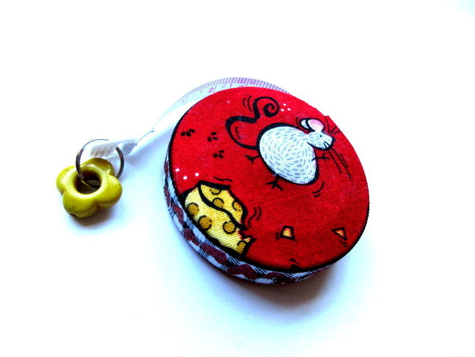 Tape Measure Cheese and Mice Small Retractable Measuring Tape
