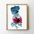 Chinese princess cross stitch pattern  galaxy baby kids nursery fairy tales