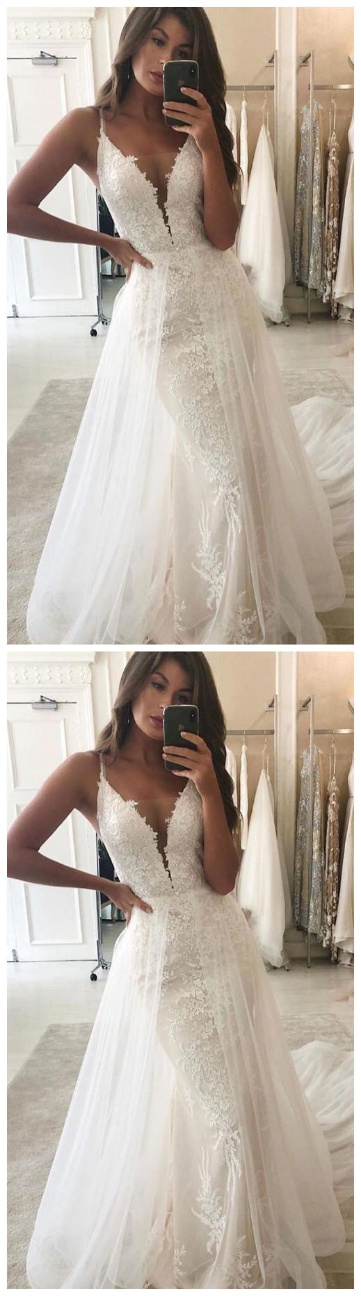 length women dresses v-neck tulle floor length party dress applique lace special