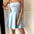 simple short blue sleeveless satin a-line mini evening dress spaghetti-straps