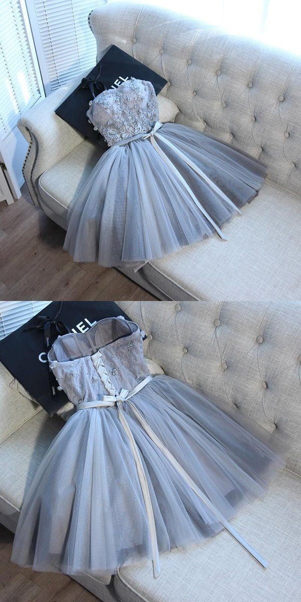 sleeveless strapless sweetheart tulle mini evening dresses party dresses