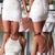 beauty white sleeveless halter applique lace short evening party dresses