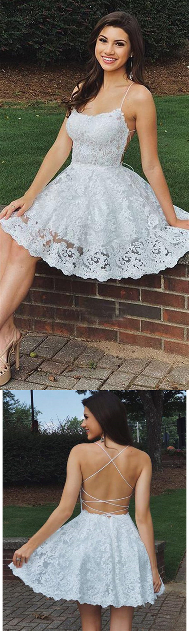 v-neck a-line applique lace mini evening dress midi dress applique