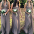 simple sleeveless v-neck chiffon full length bridesmaid dress