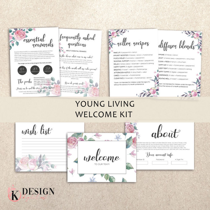 Floral Young Living Member Welcome Kit , Young Living Starter Kit Welcome YL54