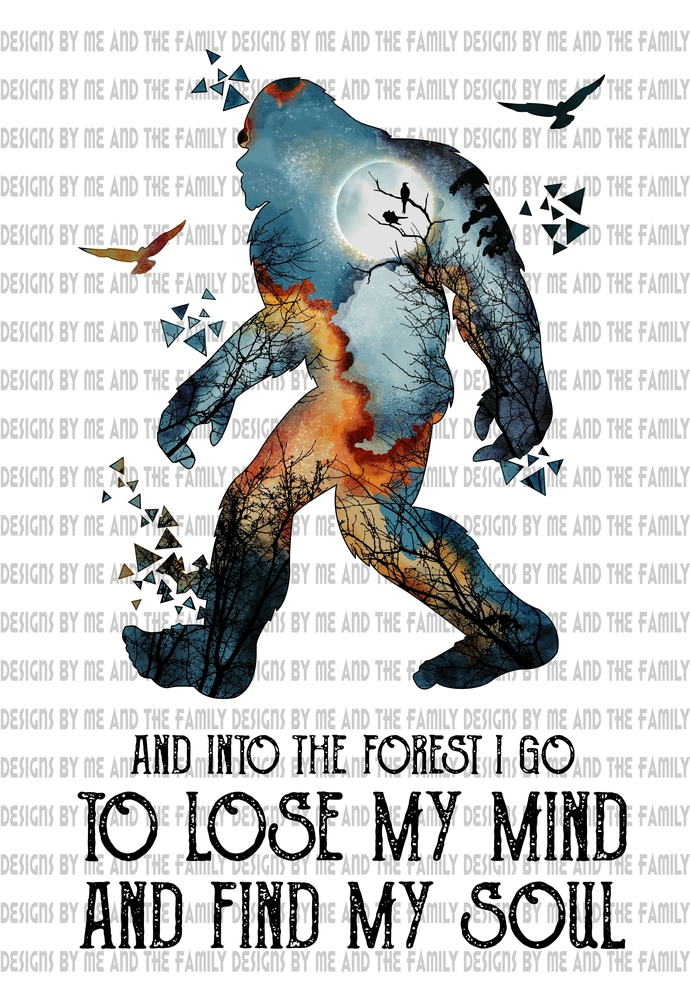 And into the forest I go to lose my mind and find my soul, bigfoot, social