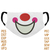 Clown face Mask embroidery design,clown Mouth,Adults Kids,Funny clown,Creative