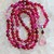 Minimalist Hot Pink & Dreamy Pink Moonstone Long Beaded Necklace with Pendant by