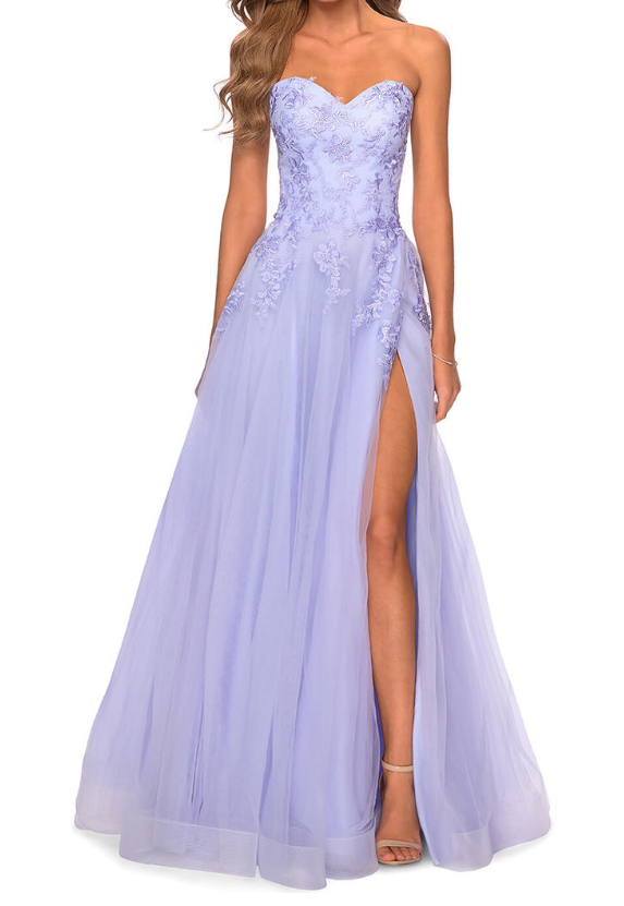 Purple Prom Dress,Tulle Prom Gown,Sweetheart Evening Dress,A-Line Prom Gown 0178