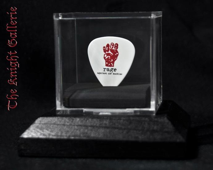 Rage Against The Machine guitar pick display
