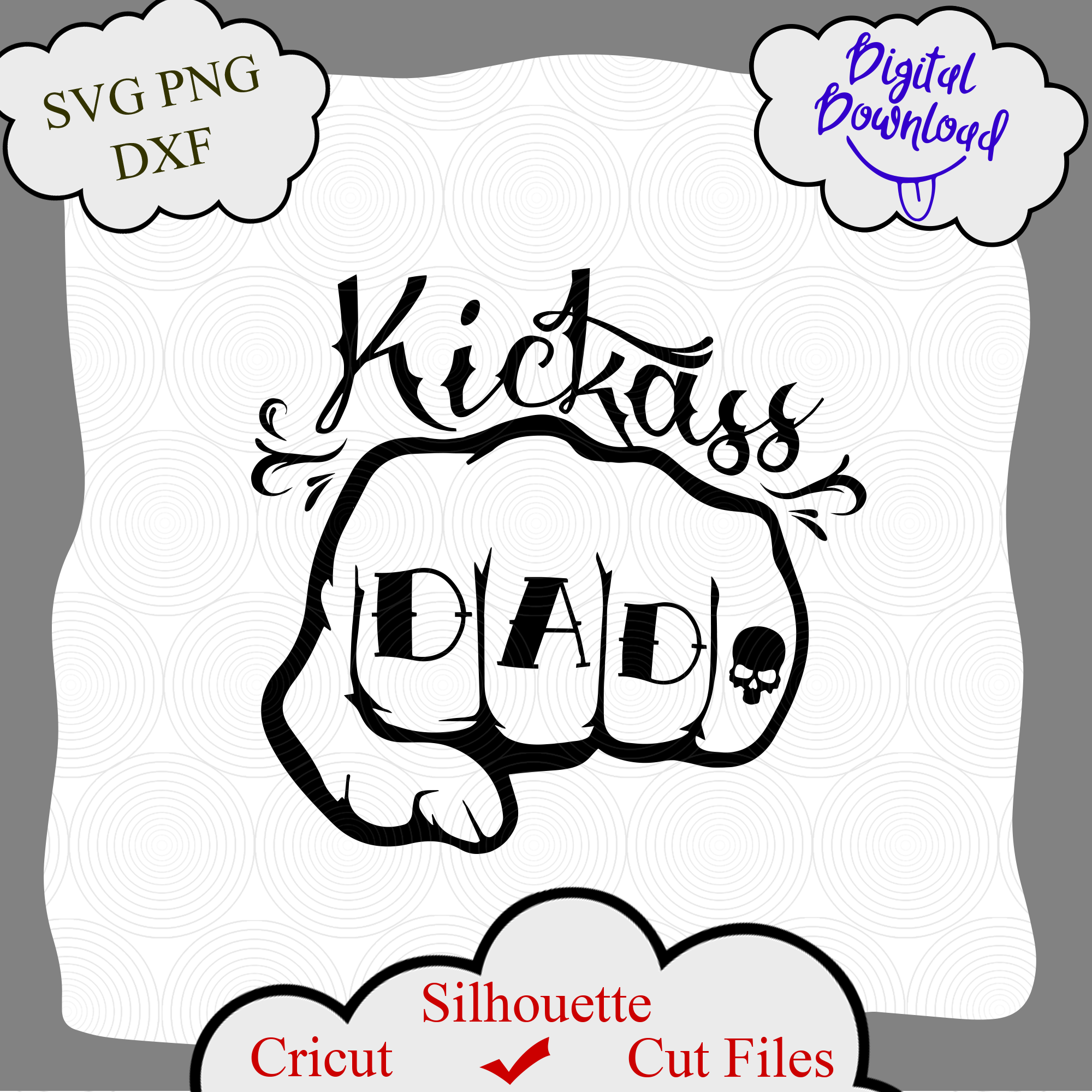 Fathers Day Svg Kickass Dad Svg Dad Svg Kickass Dad Gifts For Dad Badass Dad Svg Print Rad Dad A C Moore Marketplace