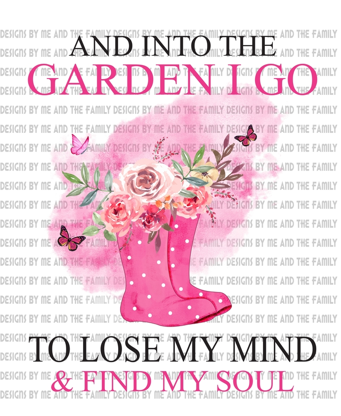 And into the garden I go to free my mind and find my soul, pink boots, peace