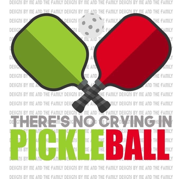 There's no crying on pickleball, 2 paddles one ball, A paddle sport created for