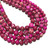 Natural Round Hot Pink Imperial Jasper Healing Gemstone Loose Beads for Bracelet