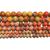 Natural Round Orange Imperial Sediment Jasper Healing Gemstone Loose Beads for