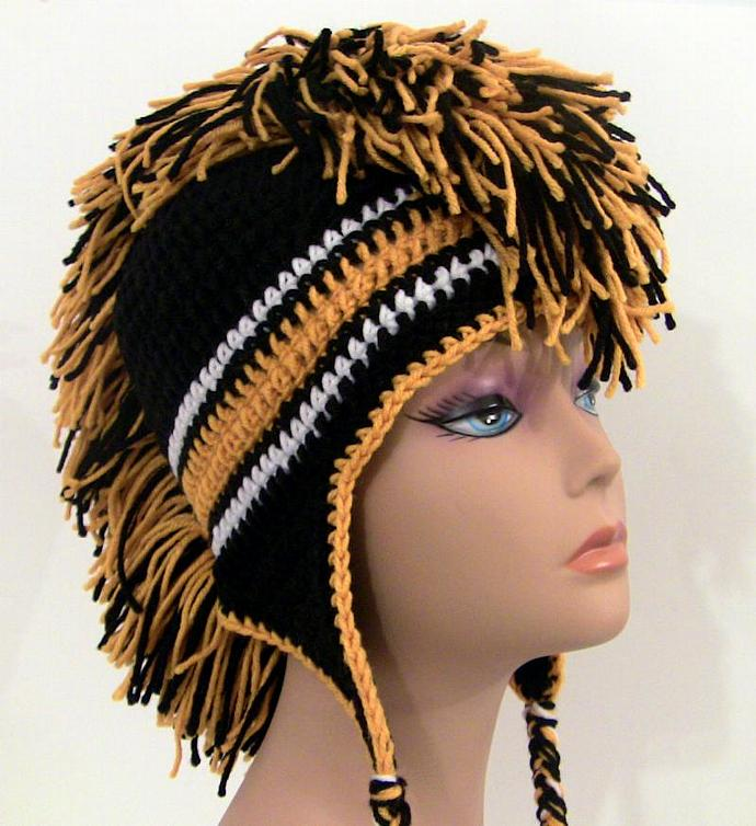 Mohawk Hat Black And Gold Made To Unexpectedtreasure