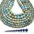 Natural Round Light Blue Imperial Sediment Jasper Healing Gemstone Loose Beads