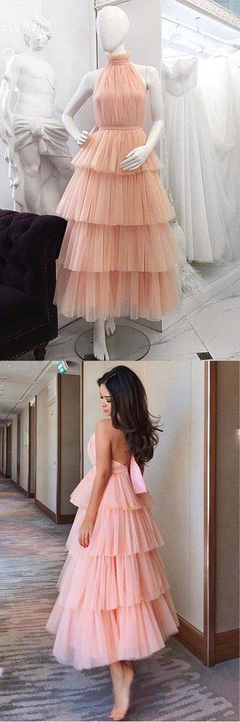 Charming Halter A-Line Prom Dresses,Long Prom Dresses,Cheap Prom Dresses,