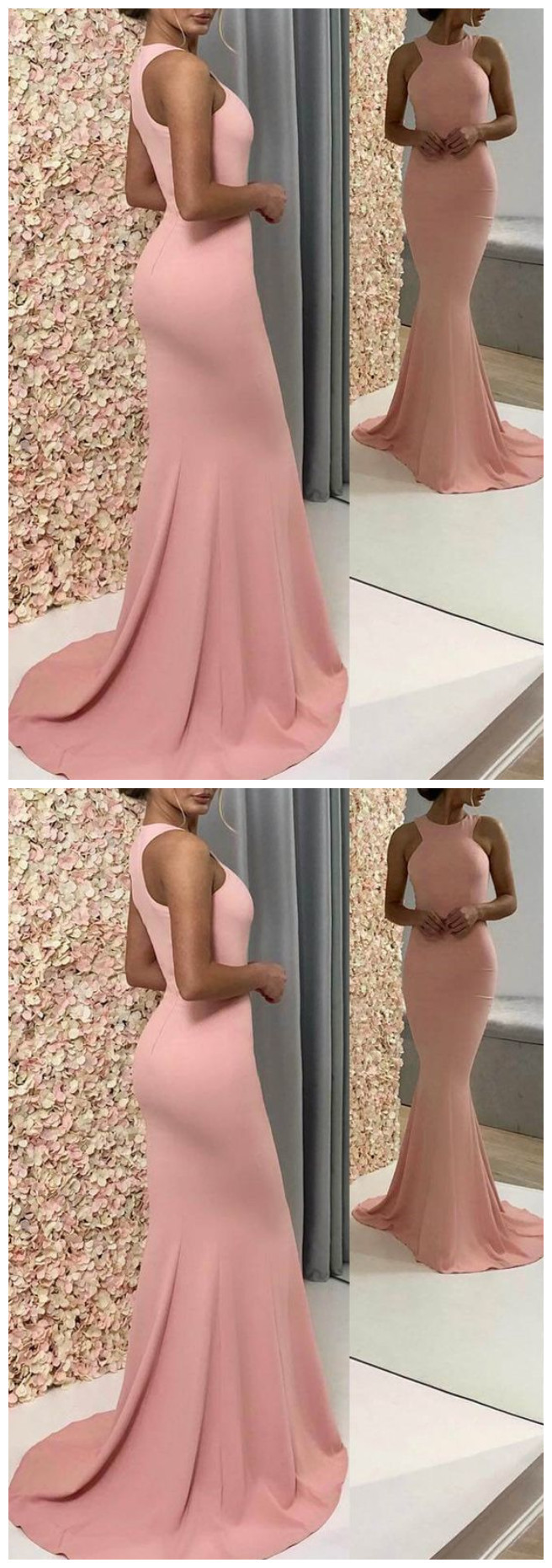 O-Neck Mermaid Prom Dresses,Long Prom Dresses,Cheap Prom Dresses, Evening Dress