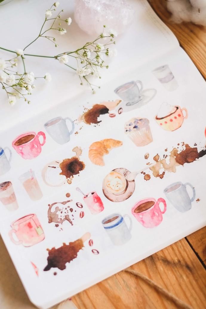 London Gifties watercolour tape - Coffee - 3 cm wide Japanese washi tape