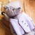 Traditionally handmade teddy bear in purple - Kaia - Gulnaz beautifully handmade