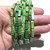 Natural Tube Grass Green Imperial Sediment Jasper Healing Gemstone Loose Beads