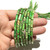 Natural Round Tube Grass Green Imperial Sediment Jasper Healing Gemstone Loose